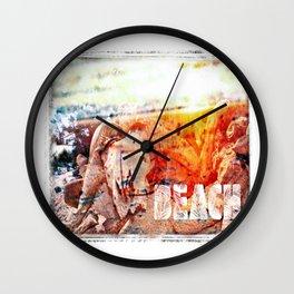 Beach Bulls Wall Clock