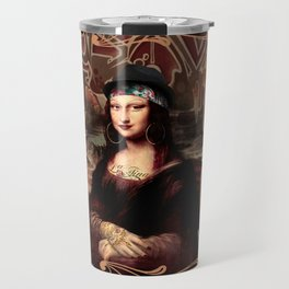 Chicana Mona Lisa Travel Mug