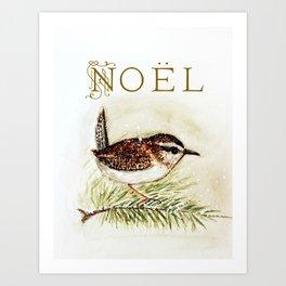 noel wren - watercolor Art Print