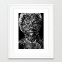 mandela Framed Art Prints featuring Mandela by PandaGunda