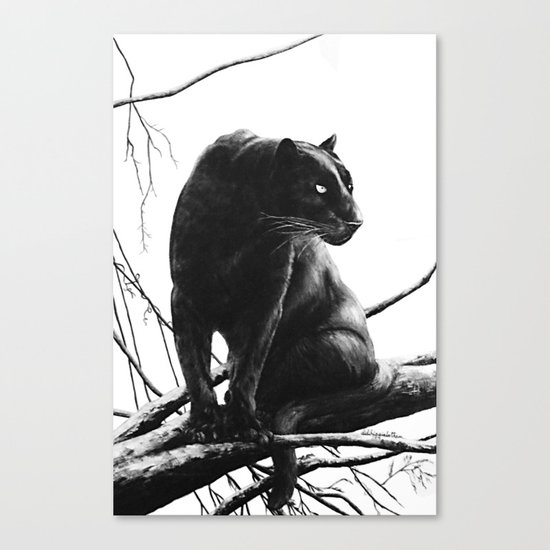 Suddenly painting Canvas Print