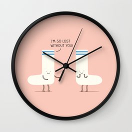 socks love Wall Clock