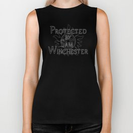 Protected by Sam Winchester Biker Tank