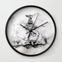 Boar Hat Wall Clock