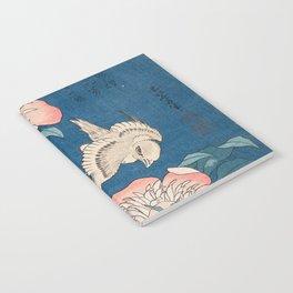 Katsushika Hokusai - Peonies and Canary, 1834 Notebook