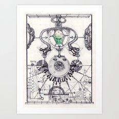 celestial hierarchie of braniac Art Print