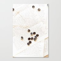 letters Canvas Prints featuring Letters by Colleen Farrell