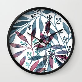 Seeded Eucalyptus Wall Clock