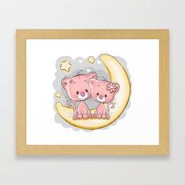 Love Moon Framed Art Print