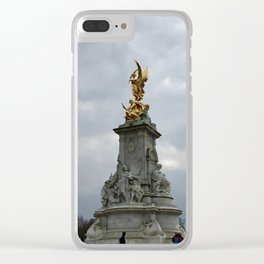 Golden Glory Clear iPhone Case