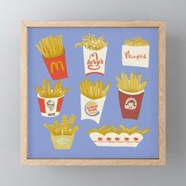American French Fries Framed Mini Art Print