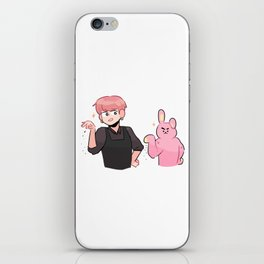 bts: two meme bunnies iPhone Skin