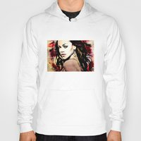 rihanna Hoodies featuring rihanna by mark ashkenazi