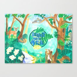 Medilludesign Ecotherapy Forest 2 Canvas Print