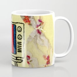 No Signal Vintage TV Embroidery Coffee Mug