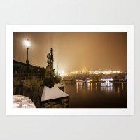 prague Art Prints featuring Prague 6 by Veronika