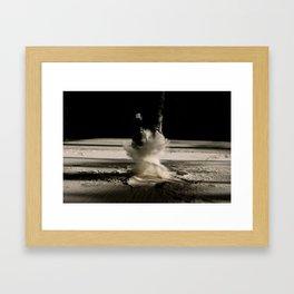 Flour Tornado Jump Framed Art Print