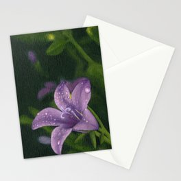 Purple lily flower Stationery Cards