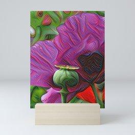 DeepDream Flowers, Poppy, DeepDream style Mini Art Print