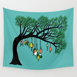 Buoy Tree by Seasons K Designs for Salty Raven Wall Tapestry