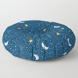 night stars Prints patterns Floor Pillow