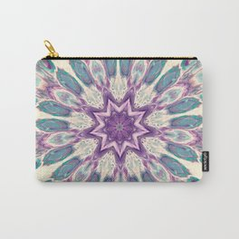 Peacock Star Mandala Style Design - Fluid Nature Carry-All Pouch