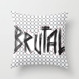 Brutal Fence Throw Pillow
