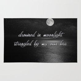 drowned in moonlight strangled by my own bra Rug