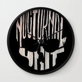 NU skull Wall Clock