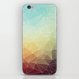 Retro color geometric ocean iPhone Skin