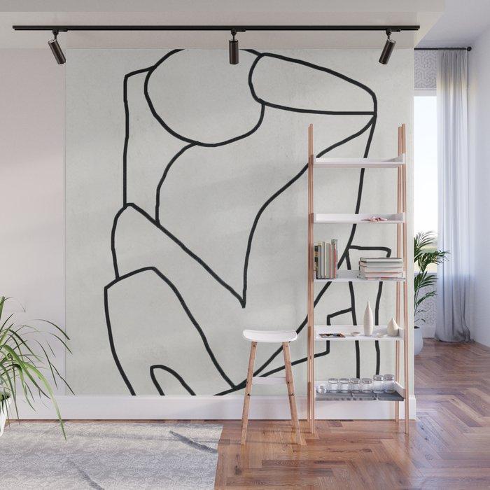 Abstract line art 2 Wall Mural