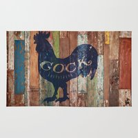 cock Area & Throw Rugs featuring Cock Outfitters by Nick Kask Design Co