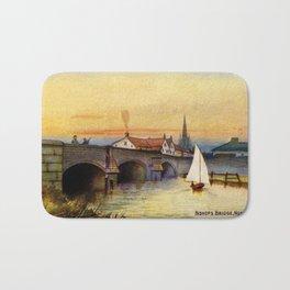 Vintage watercolour Norwich Bishop bridge Bath Mat