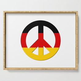 Black Red Yellow German Flag CND Peace Symbol Serving Tray