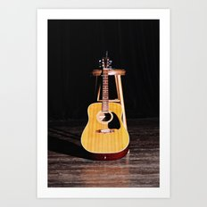 The Silent Guitar Art Print