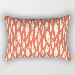 Quail Feathers (Poppy) Rectangular Pillow