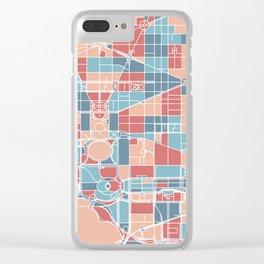 Washington DC map Clear iPhone Case