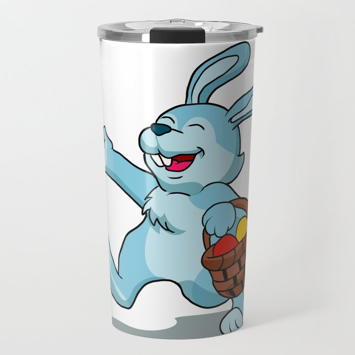 rabbit with Easter basket Travel Mug