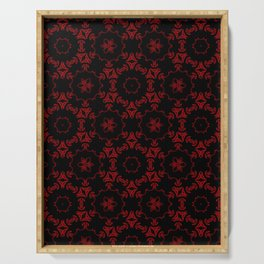 Red+Black Circled Serving Tray