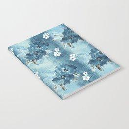 Distressed Denim Hibiscus Stripe Notebook