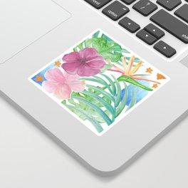 Malia's Tropical Print Sticker