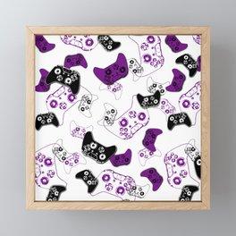 Video Game White & Purple Framed Mini Art Print