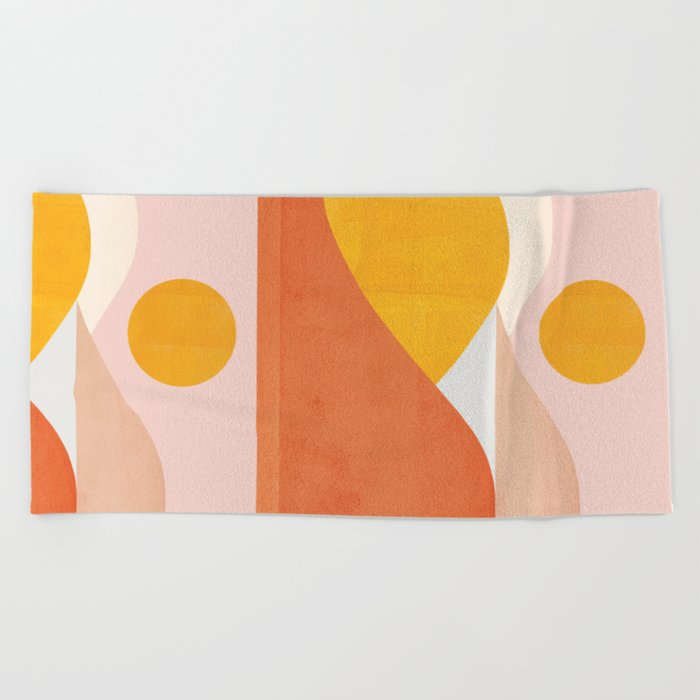 Abstraction_Mountains Beach Towel