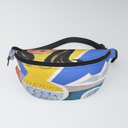 vintage leukerbad station thermale et Fanny Pack