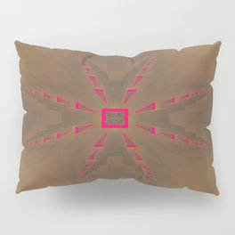 Pinkbrown(blue) Pattern 3 Pillow Sham