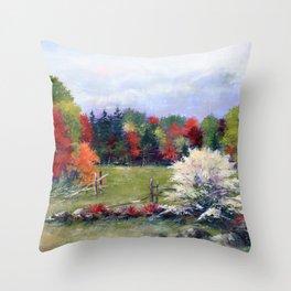 Gateway to Fall Throw Pillow