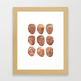 Faces Of Donald Trump Framed Art Print