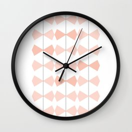 Pretty Bows All In A Row Wall Clock