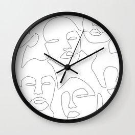Line Community Wall Clock