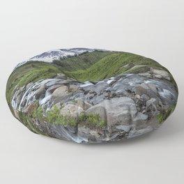 Edith Creek and Mount Rainier Floor Pillow